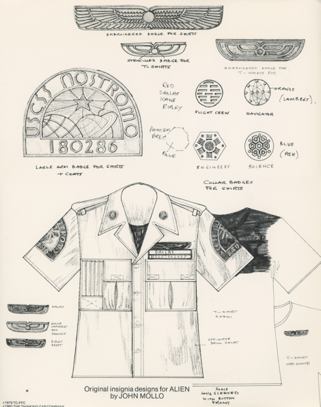 Source: The Authorized Portfolio of Crew Insignias from the United States Commercial Spaceship Nostromo, 1980.