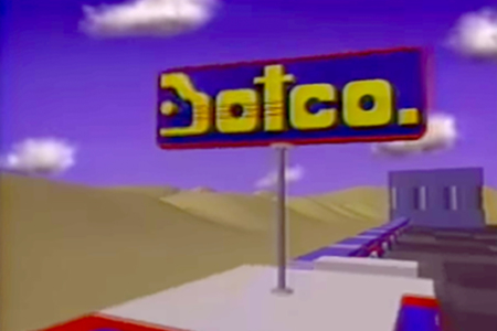 <p><strong>Figure 1.3</strong> The Botco logo as it appeared on spinning signage above the filling station. Source: Botco (1985), by PDI</p>