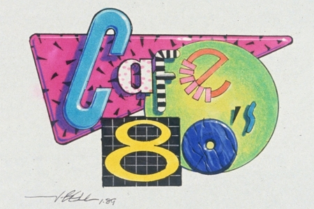 <p><strong>Figure 2.1</strong> The original concept art for the Cafe 80s identity, by artist and designer John Bell. Source: <em>www.JohnBell.Studio</em></p>
