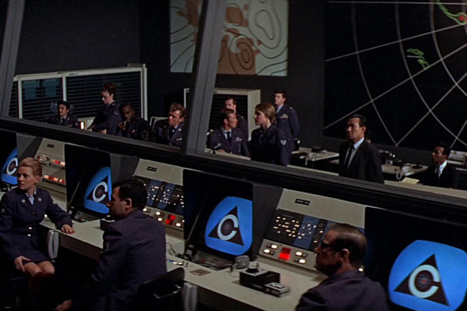 <p><strong>Figure 4.18</strong> On screens in the White House Situation Room, where people aren't feeling so good about that decision to give nukes to an artificial intelligence.</p>