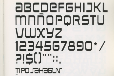 <p><strong>Figure 7.3</strong> Similarly styled corporate typeface for Sahagan Industrial Group, designed by Ernesto Lehfeld in 1976. Source: <em>Pictograms and Typefaces of the World 2</em></p>
