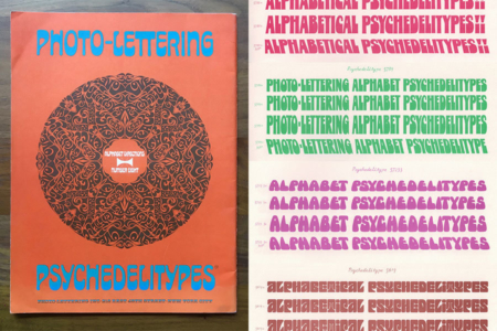 <p><strong>Figure 7.4</strong> <em>Photo-Lettering </em><em>Pyschedelitypes</em> (Alphabet Directions No. 8), Photo-Lettering, Inc., 1968. Source: Images by Stephen Coles</p>