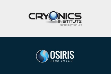<p><strong>Figure 3.3</strong> Like the fictional Cryoco, cryonics companies bordering on science fiction have decided a blue circle is the way to go in their logos.</p>