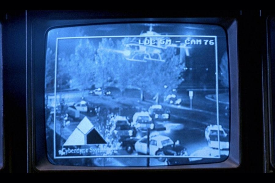 <p><strong>Figure 7.1</strong> Security camera feeds are seen multiple times in the film, and they all feature what I've designated Screen-Use Signature B.</p>
