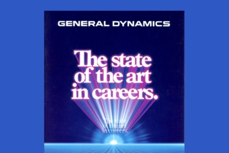 <p><strong>Figure 8.4</strong> The aerospace and defense industry giant, General Dynamics, is the sort of corporation sci-fi likes to warn us about. Source: General Dynamics Recruitment Brochure (1983)</p>