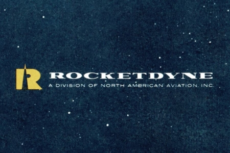 """<p><strong>Figure 8.5</strong> To my knowledge, Rocketdyne is the earliest instance of """"dyne"""" being worked into a company name, to represent force. Source: Cover for Rocketdyne Report to NASA (1961)</p>"""