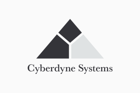 <p><strong>Figure 11.1</strong> They Cyberdyne Systems wordmark, as it appears with the mark in the primary corporate signature lockup.</p>