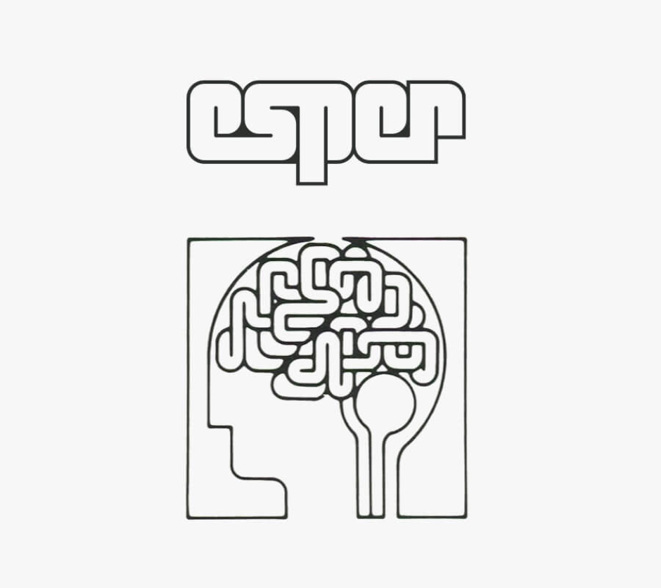 <p><strong>Figure 3.7</strong> The Esper logotype compared to a logo from the 1980s that depicts the human brain in a similar fashion, for the Fidia Research Foundation. Source: <em>High Tech Trademarks Vol. 2</em></p>