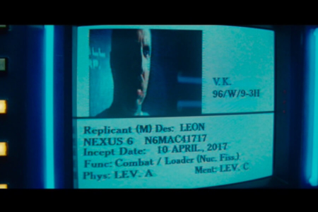 <p><strong>Figure 1.2</strong> At the police headquarters, when Captain Bryant briefs Deckard on the Replicants, they are looking at the Esper computer.</p>