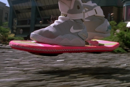 <p><strong>Figure 2.1</strong> The Hoverboard in action, as Marty uses it to evade Griff's gang.</p>