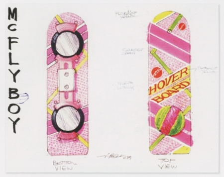 <p><strong>Figure 2.3</strong> Concept drawings by John Bell, which were used to create the hoverboard Marty rides in the film. Source: <em>Back to the Future Part II: The Ultimate Visual History</em></p>