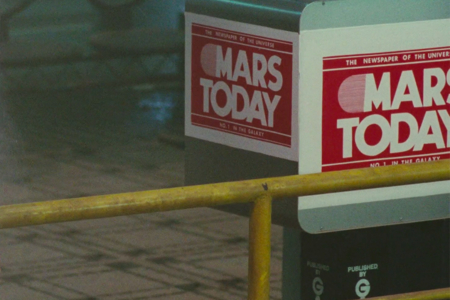 <p><strong>Figure 1.3</strong> Our closest look at the <em>MARS Today</em> logo in the film.</p>