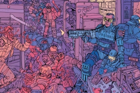 <p><strong>Figure 1.1</strong> The Mutants make a horrible, bloody mess, before being wiped from the map by the Robo-President. </p>