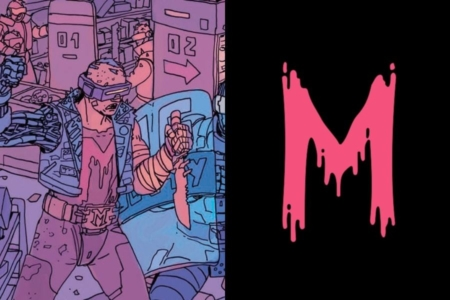 "<p><strong>Figure 3.1</strong> The Mutants paint a simple letter ""M"" on themselves as an identifying symbol for their group.</p>"