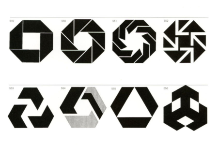 <p><strong>Figure 1.4</strong> The trend initiated in 1961 by Chermayeff and Geismer's Chase logo design, where similar abstract geometric forms are used in the visual identities of large corporate banks. Source: <em>Marks of Excellence</em></p>