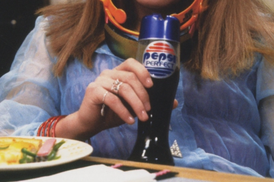 <p><strong>Figure 2.8</strong> Another look at the Pepsi Perfect logo as it appeared on bottles. Image Source: <em>Back to the Future: The Ultimate Visual History</em></p>