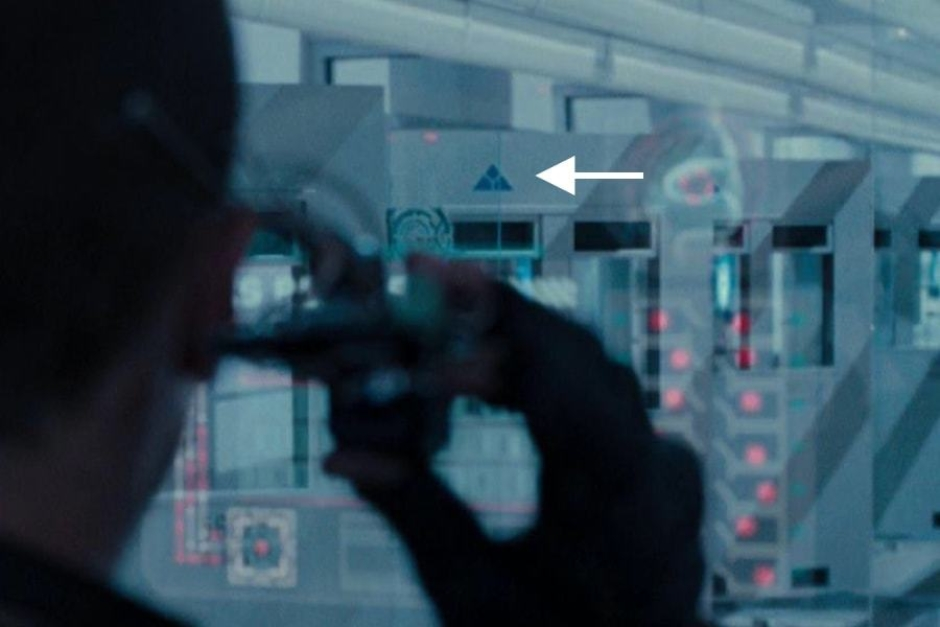 <p><strong>Figure 4.8</strong> Here's a clearer look at the mark, as the cell doors unlock and swing open. Source: <em>Terminator: Salvation</em></p>