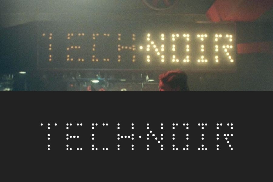 <p><strong>Figure 2.4</strong> The interior Tech Noir signage is built from flashing bulbs roughly placed on a grid, with a few burned out.</p>