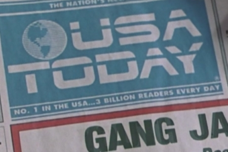 <p><strong>Figure 2.1</strong> A closer look at the <em>USA Today</em> logo in the masthead, as it appeared in the film.</p>