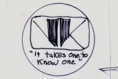 <p><strong>Figure 2.1</strong> Tom Southwell's sketch for the V-K logo design. Source: <em>Signs of the Times</em> (2007)</p>